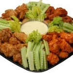 flavored wings tray